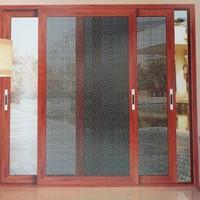 Cửa lưới chống muỗi dạng lùa màu vân gỗ HM010