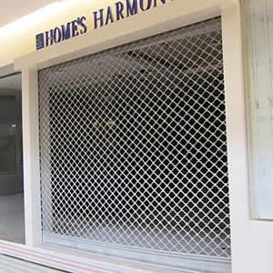 Cửa lưới chống muỗi cố định màu Ghi HM69