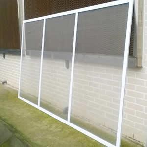 Cửa lưới chống muỗi dạng cố định màu trắng sứ HM72