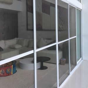 Cửa lưới chống muỗi dạng cố định màu Ghi HM73