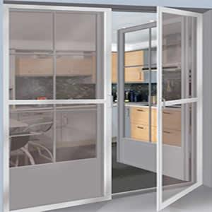 Cửa lưới chống muỗi dạng mở màu trắng sứ HM85