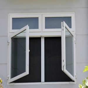 Cửa lưới chống muỗi dạng mở màu trắng sứ HM91