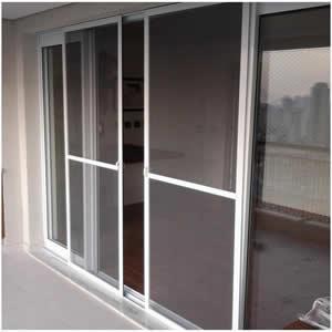 Cửa lưới chống muỗi dạng lùa màu trắng sứ HM050