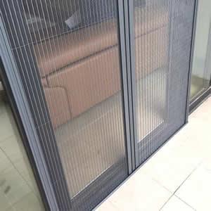 Cửa lưới chống muỗi dạng xếp màu Ghi HM59