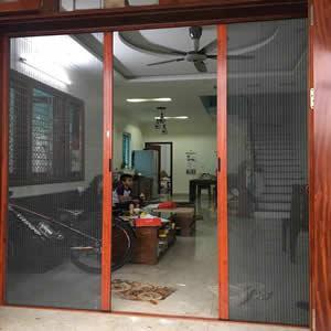 Cửa lưới chống muỗi dạng xếp Đồng HM60